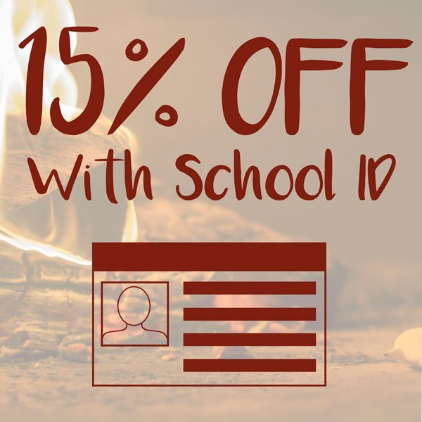 15% Off with School ID
